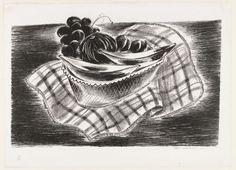 Checked Cloth - (Fruit in Basket) - Yasuo Kuniyoshi