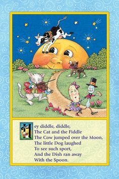 """Hey Diddle, Diddle """" A Classic Mother Goose Nursery Rhyme"""