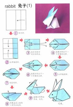 origami hase anleitung osterdeko ideen