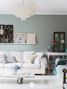 Love the empty window pane and the door-made-coffee table!