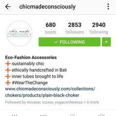 I just adore @chicmadeconsciously  Follow them and check out for to be sustainabily chic