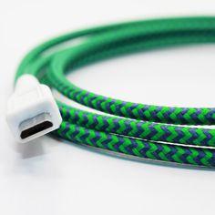 Bringt Farbe ins Büro. Mini USB-Kabel im schönen Kleid ...