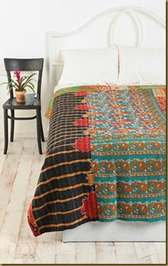 Kantha Recycled Sari Spread