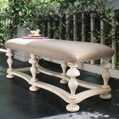 Universal Furniture - Paula Deen Home - Bed End Bench in Linen, available at Furnitureland South. Goes perfect with our room! Bench Furniture, Large Furniture, Bedroom Furniture, Painted Furniture, Furniture Ideas, Unusual Furniture, Furniture Refinishing, Outdoor Furniture, Refurbished Furniture