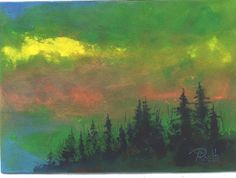 Greenday acrylic landscape painting by Jim by jimsmeltzgallery, $50.00