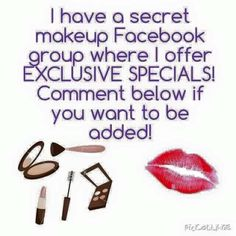 Hey ladies. If you love make up and love Younique or want to find out more. Come and join me and my Ysisters in my VIP FaceBook group. Request to join or comment here and I'll add you. Feel free to share and add your friends: https://www.facebook.com/groups/1608238612793630/   PLEASE NOTE I VET ALL REQUESTS AND SPAMMERS WILL BE BLOCKED!!