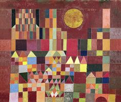 Global Gallery 'Castle and Sun (Detail)' by Paul Klee Framed Painting Print on Canvas Size: Painting Frames, Painting Prints, Canvas Prints, Art Prints, Moma, Bauhaus, Art Dégénéré, Geometric Artists, Paul Klee Art
