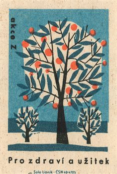 czechoslovakian matchbox label - this is beautiful.