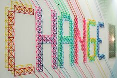 CHANGE for BBH London - Evelin Kasikov – CMYK embroidery and Typographic Design – London
