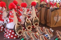 Sock monkey party favors