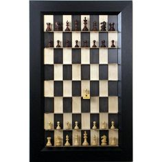Vertical Wall Decor vertical magnetic chess board | chess, board and chess sets