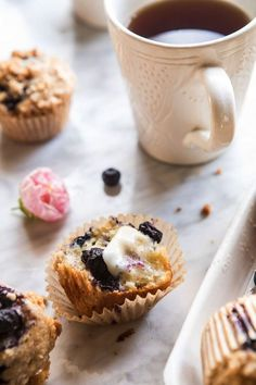 early grey blueberry muffins