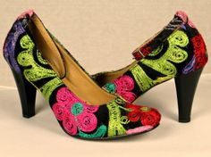 Handcrafted colorful pink blue white yellow by TrevoraCollections, $154.45