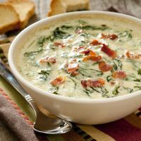 Hot spinach and bacon dip