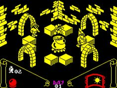 Knight Lore is a isometric adventure game published by Ultimate Play The Game. It was the game that spawned a new trend for this. Vintage Video Games, Retro Video Games, Retro Games, 1980s Childhood, Childhood Days, Computer Video Games, Arcade, Future Games, Old Computers