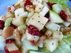 Foods For Long Life: Raw Vegan Waldorf Salad with Apple Chia Dressing
