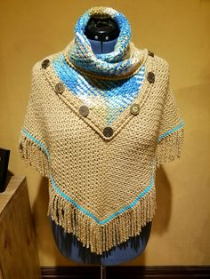 Planned Pooling Crochet Poncho