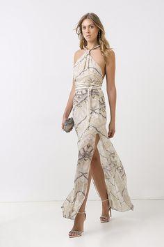 vestido seda longo raipur sable