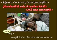 Psaumes-probervios et des citations bibliques: « Je le veux, sois purifié » Évangile de Jésus Chr...