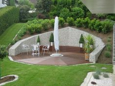 Unique Gabion Wall Garden design - Decorate Your Home Sloped Yard, Sloped Backyard, Backyard Patio, Hillside Landscaping, Modern Landscaping, Backyard Retaining Walls, Gabion Wall, Low Maintenance Garden, Yard Design