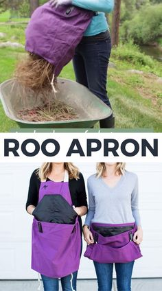 Roo Gardening Apron Roo Gardening Apron The Roo Garden Apron theRooapron Garden Tools A gardening apron that empties to keep your hands free nbsp hellip videos geschenk Sewing Aprons, Sewing Clothes, Diy Clothes, Sewing Hacks, Sewing Tutorials, Apron Pattern Free, Gardening Apron, Perfect Christmas Gifts, Couture