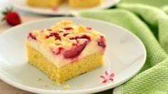 Przepis na Ciasto z nadzieniem serowo-budyniowym i truskawkami kaszubska/kaszëbskô malëna #ChOG