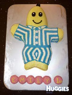 Vanilla Bananas in Pyjamas cake