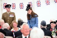 Kate Middleton in Normandy, France.
