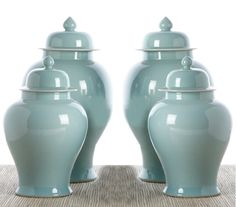 Chinese Aquamarine Porcelain Temple Jars Courtesy of InStyle-Decor.com Beverly Hills Inspiring & Supporting Hollywood interior design professionals and fans, sharing beautiful Luxe Home Decor Inspirations, Designer Furniture, Table Lamps, Mirrors & Decorative Accents. Trending 1st in Hollywood, Your Welcome To: Repin, Share & Enjoy