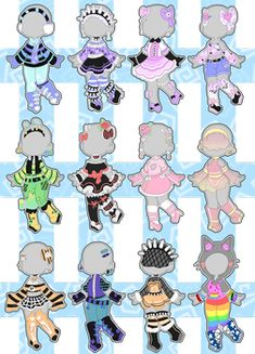 Outfit Adopts (closed) by Horror-Star on DeviantArt Cute Anime Character, Character Art, Character Design, Cartoon Outfits, Anime Outfits, Drawing Reference Poses, Art Reference, Soft Grunge Outfits, Little Misfortune