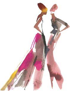 Bil Donovan. Fashion illustration on Artluxe Designs. #artluxedesigns