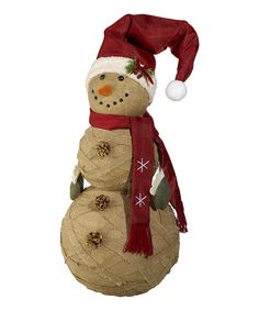 Look at this Burlap Snowman Décor on #zulily today!