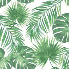 ESTA Home Patti Light Green Leaves Light Green Wallpaper Sample