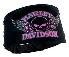 Harley-Davidson Women's Headband Scrunchie, Studded Winged Skull, Black HE71530 - http://todays-shopping.xyz/2016/06/01/harley-davidson-womens-headband-scrunchie-studded-winged-skull-black-he71530/