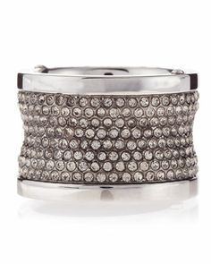 Gunmetal+Pave+Barrel+Ring,+Size+7+by+Michael+Kors+at+Neiman+Marcus+Last+Call.