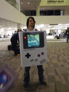 Game Boy - This guy's costume is entirely playable and you can switch the games in the back.