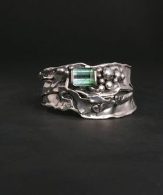 5.5 ct. Bi-Color Green Tourmaline, I2 Clarity : Marksz Co. | Sterling · West Palm Beach , Handcrafted Artisan Sterling Silver Jewelry