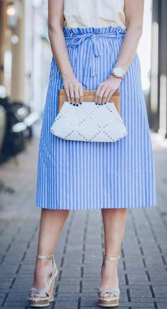 the perfect paperbag waist skirt!