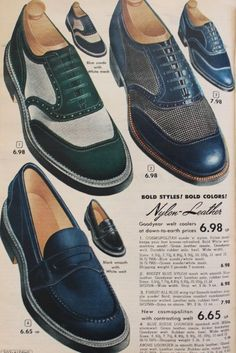 Men's 1950s Shoes Styles- Classics to Saddles to Rockabilly