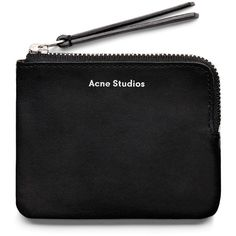 ACNE Pouch new black ($110) ❤ liked on Polyvore featuring bags, wallets, accessories, acne, real leather wallet, black wallet, leather wallet, acne studios and leather pouch wallet