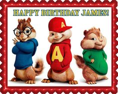 Give a professional touch to homemade cakes and #cupcakes with #ECakeImage icing sheets. This image printed cake toppers are made from edible ingredients, with lip-smacking colors and eye-catchy design to match themed decoration. Take a look to this Alvin and the Chipmunks Road Chip 2 Edible Cake Topper.