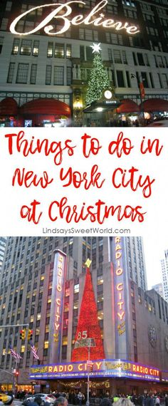 Lindsay's Sweet World: Things to do in New York City at Christmas - Travel New York - Ideas of Travel New York New York Day Trip, New York City Vacation, New York City Travel, Voyage Usa, Voyage New York, New York City Christmas, Christmas Travel, Christmas Christmas, Christmas Markets