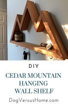 DIY Cedar Mountain Hanging Wall Shelf
