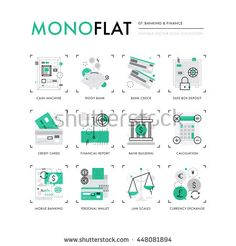Infographics icons collection of mobile banking, personal finance, money and…