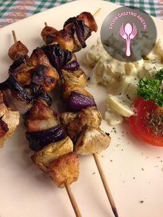 Sertés grillnyárs gombával | | Sylvia Gasztro Angyal