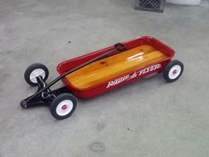 Latest project completed. A rat rod style radio flyer wagon. Tung and grove knotty pine floor.