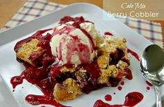 Cake Mix Berry Cobbler • Table for Seven