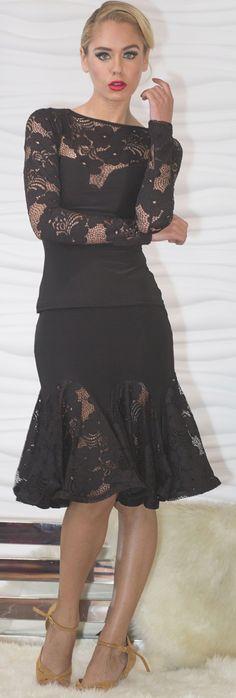 18f190906 Beautiful Ladies Ballroom Short Lace Godet Skirt Baile Latino, Ballroom  Dance Shoes, Dance Tops