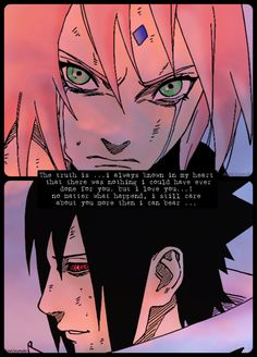 Sasuke loves Sakura and no one can convince me otherwise. :c my feels.