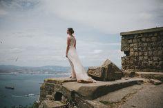 The bride in an intimate wedding in Gibraltar #weddingPhotos #destinationWeddingPhotographer #weddingGibraltar